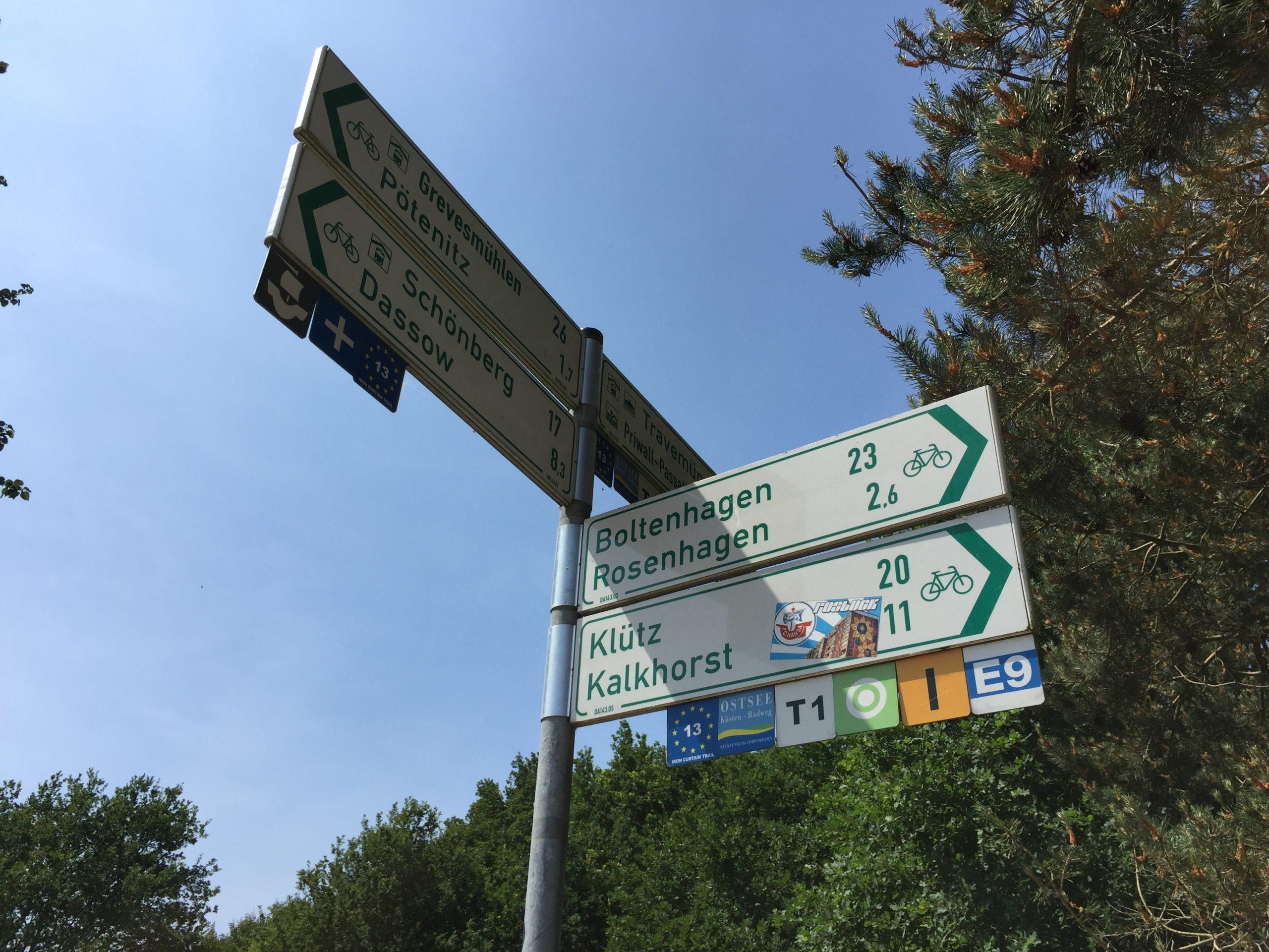 Abzweig EV13 Richtung Polen
