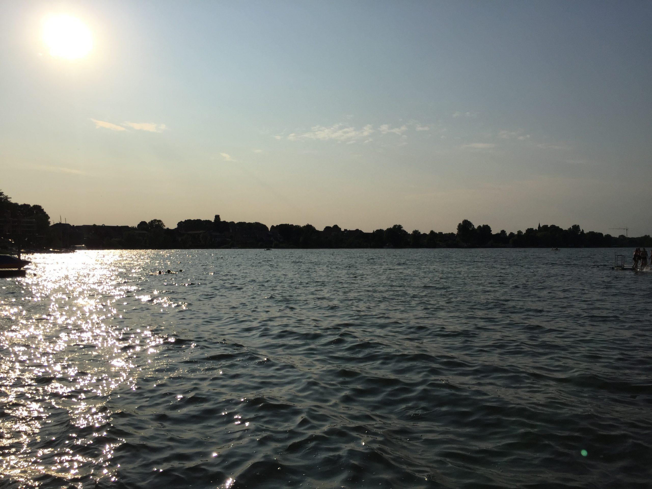 Sonnenuntergang am Schaalsee