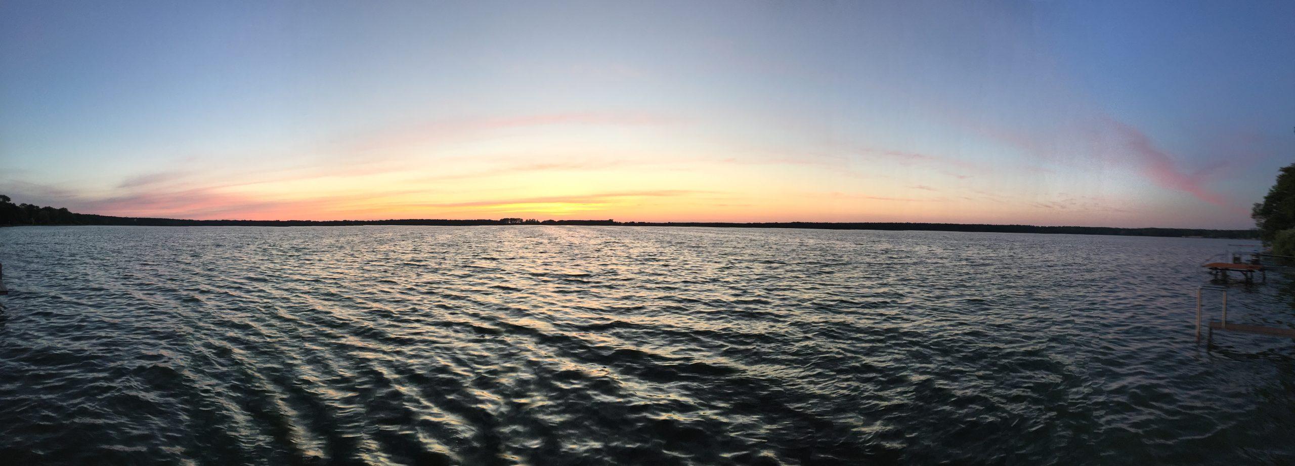 Arendsee bei Sonnenuntergang