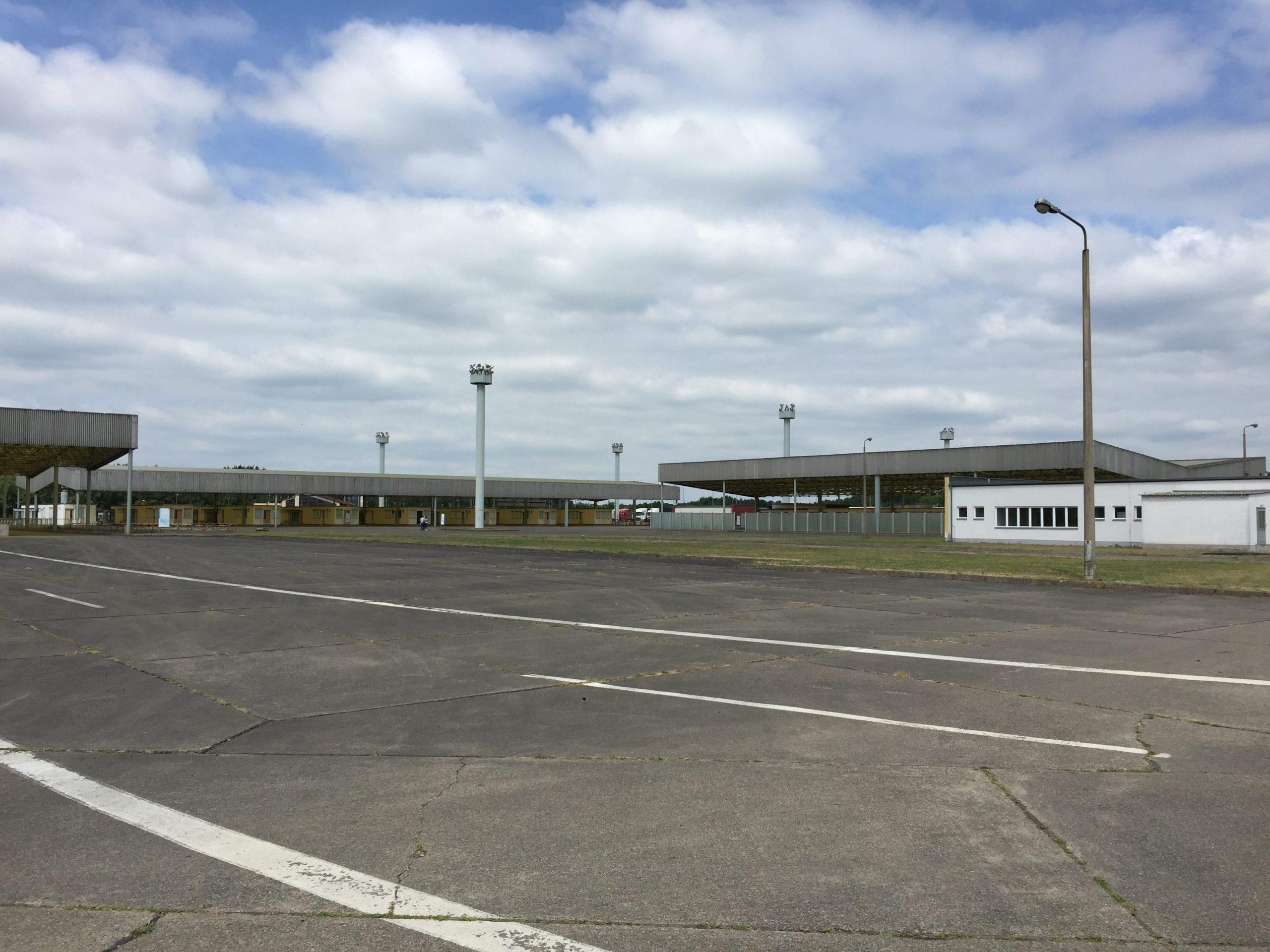 Güst Marienborn - Zufahrt Grenzkontrollstation