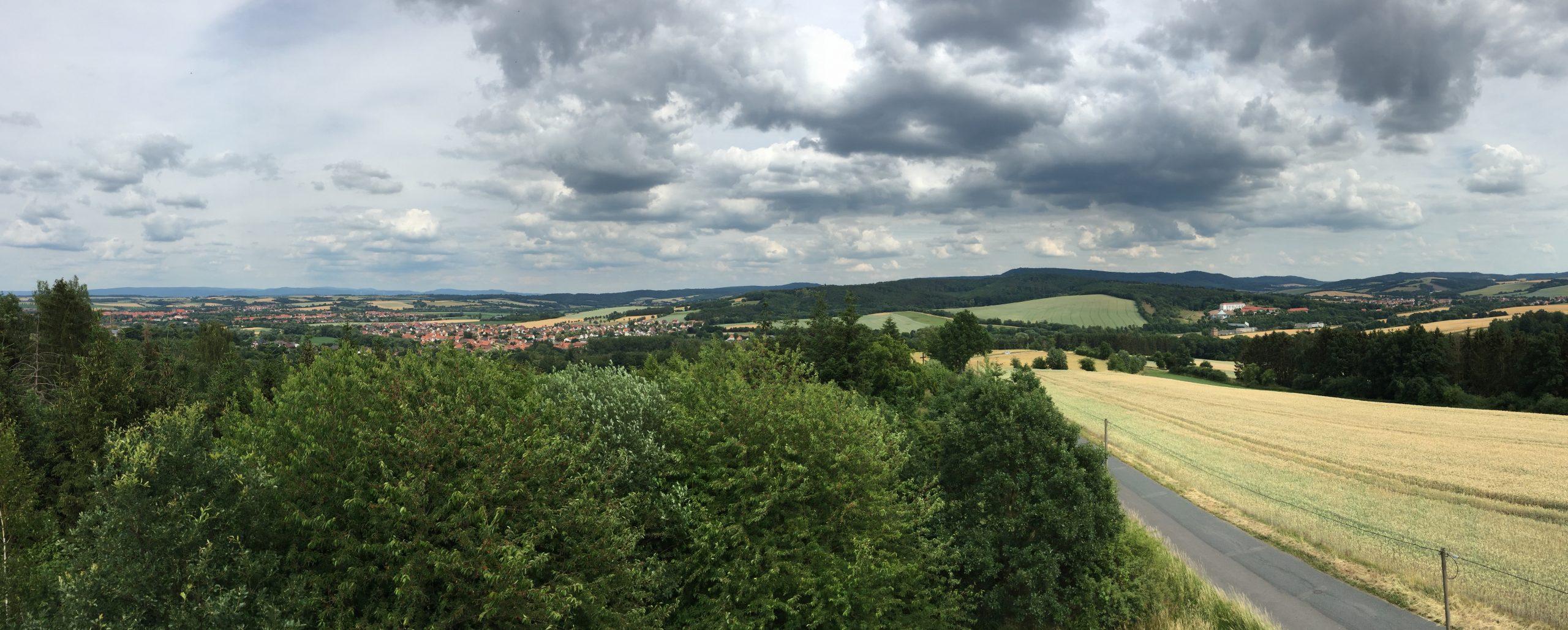Blick vom Pferdebergturm